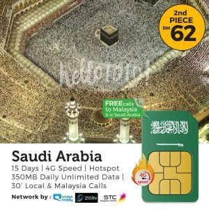 Saudi Arabia Umrah Travel Prepaid SIM Card
